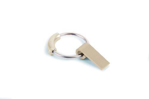Klíčenka s USB FINE, zlatá