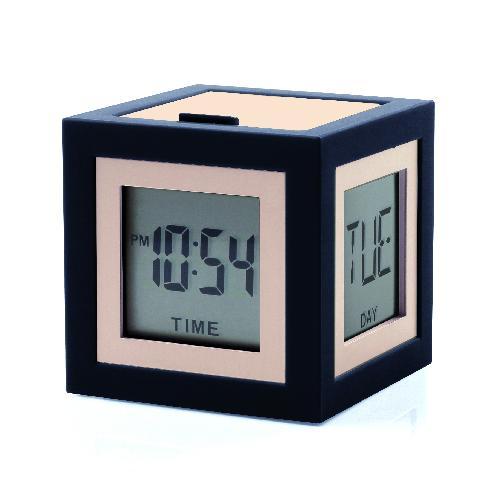 LCD budík CUBISSIMO, černá