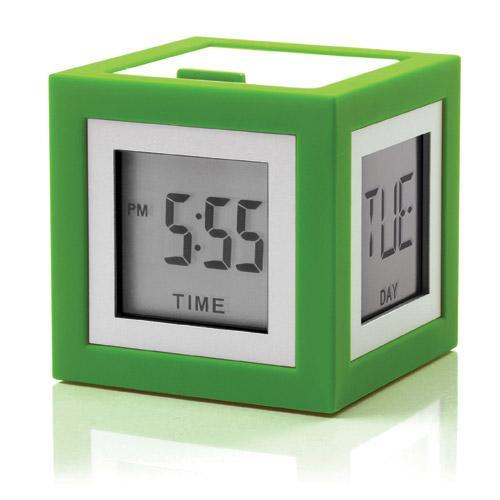 LCD budík CUBISSIMO, zelená