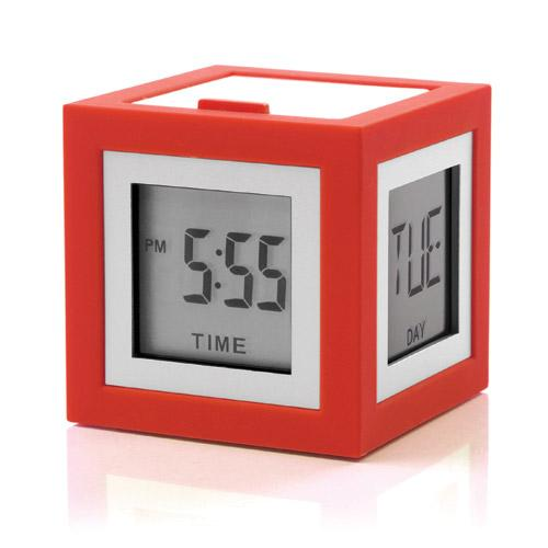 LCD budík CUBISSIMO, korálová