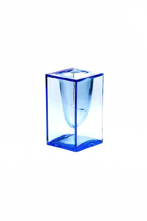 Stojánek na tužky LIQUID POT, transparentní modrá