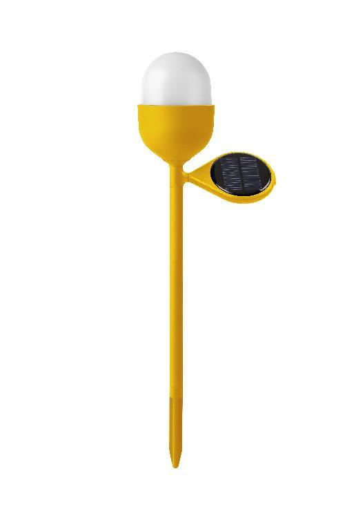 Solární lampa CLOVER GARDEN, žlutá