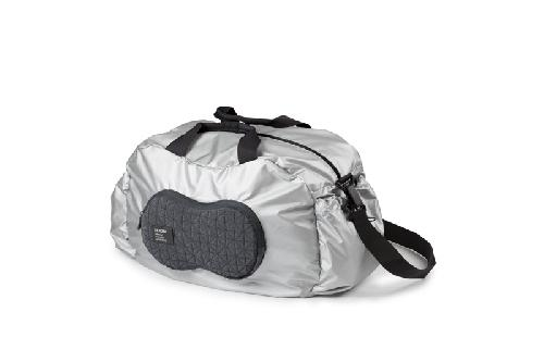 Sportovní taška PEANUT, stříbrná