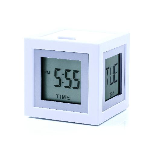 LCD budík CUBISSIMO, bílá