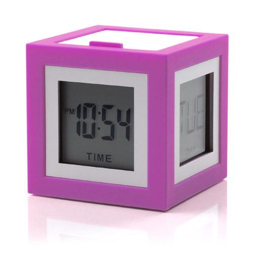 LCD budík CUBISSIMO, fialová