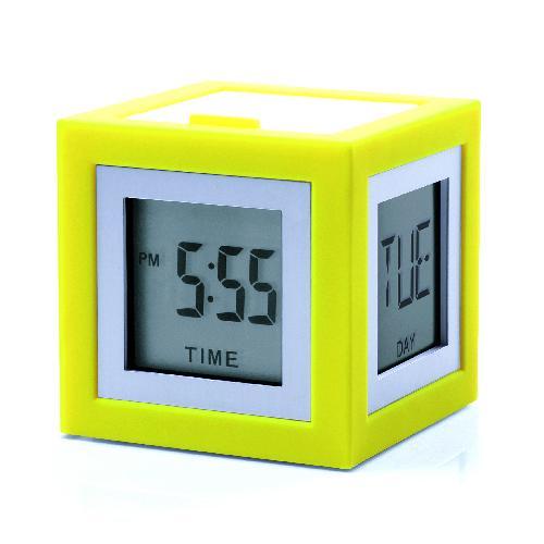 LCD budík CUBISSIMO, žlutá