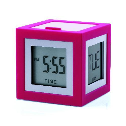LCD budík CUBISSIMO, růžová