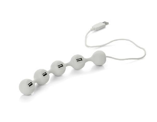 USB hub PEAS, 4 porty, bílá