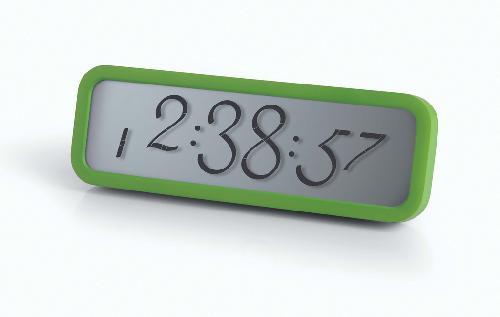 LCD budík SCRIPT, zelená