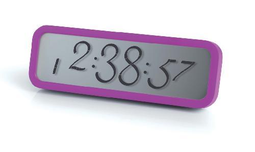 LCD budík SCRIPT, fialová