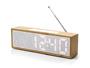 Rádio budík TITANIUM, bambus