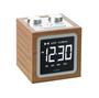 FM rádio budík s MP3 reproduktorem DOLMEN, bambus